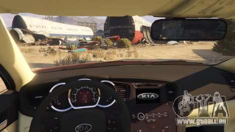 GTA 5 KIA Optima 2014 hinten rechts