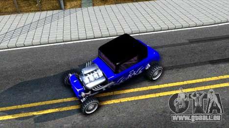Duke Blue Hotknife Race Car pour GTA San Andreas vue arrière