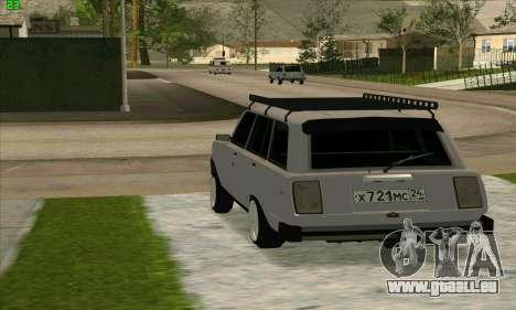 VAZ 2104 Krasnoyarsk Azelow style pour GTA San Andreas laissé vue