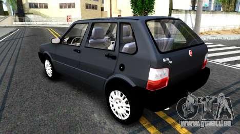 Fiat Uno Fire Mille V1.5 pour GTA San Andreas sur la vue arrière gauche