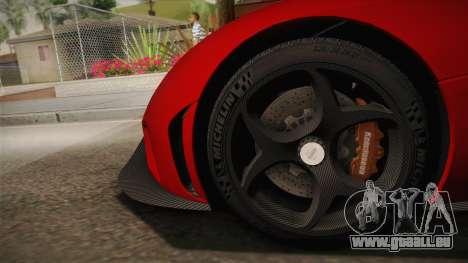 Koenigsegg Regera 2016 pour GTA San Andreas sur la vue arrière gauche