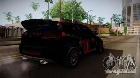 Audi RS3 Sportback Rally WRC für GTA San Andreas zurück linke Ansicht