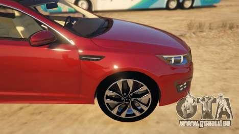 GTA 5 KIA Optima 2014 rechte Seitenansicht