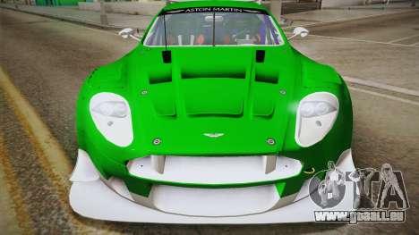 Aston Martin Racing DBR9 2005 v2.0.1 YCH Dirt für GTA San Andreas rechten Ansicht