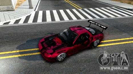 Mazda RX-7 Madbull Rocket Bunny für GTA San Andreas Rückansicht