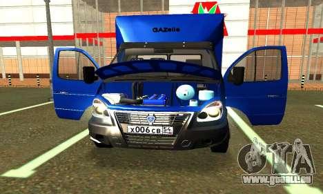 Gazel 3302 Geschäft für GTA San Andreas Rückansicht