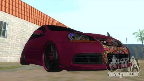 Volkswagen Golf MK pour GTA San Andreas vue arrière