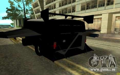 UAZ BUXANKA pour GTA San Andreas sur la vue arrière gauche