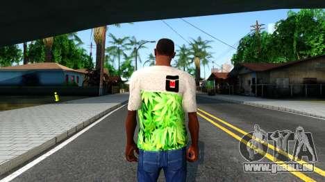 Design Weedleaves T-Shirt für GTA San Andreas dritten Screenshot