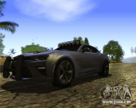 Chevrolet Camaro SS Xtreme pour GTA San Andreas vue intérieure