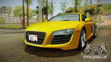 Audi R8 Coupe 4.2 FSI quattro US-Spec v1.0.0 pour GTA San Andreas