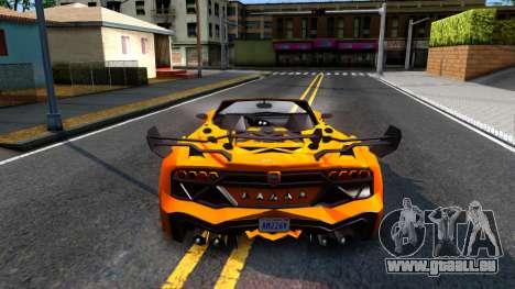 GTA V Pegassi Lampo Roadster pour GTA San Andreas sur la vue arrière gauche