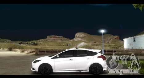 Ford Focus ST 2013 Formation pour GTA San Andreas laissé vue