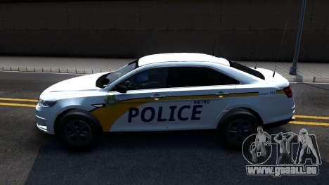 Ford Taurus Slicktop Metro Police 2013 pour GTA San Andreas laissé vue