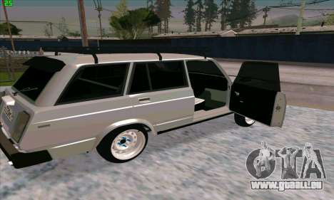 VAZ 2104 Krasnoyarsk Azelow style pour GTA San Andreas sur la vue arrière gauche