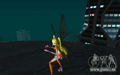 Stella Believix from Winx Club Rockstars für GTA San Andreas dritten Screenshot