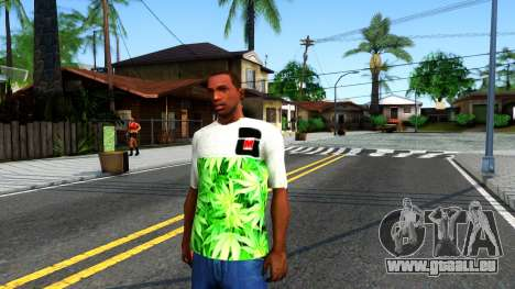 Design Weedleaves T-Shirt pour GTA San Andreas