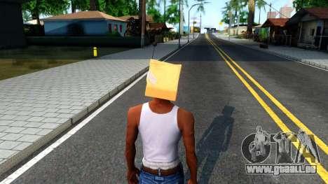 Bot Fan Mask From The Sims 3 pour GTA San Andreas troisième écran