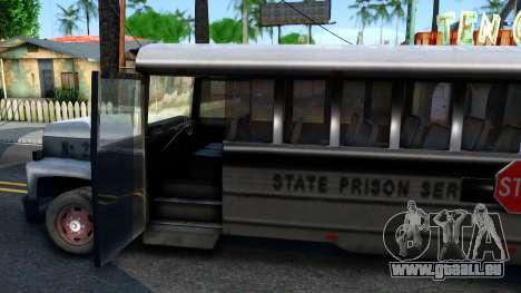Prison Bus Driver Parallel Lines pour GTA San Andreas vue intérieure