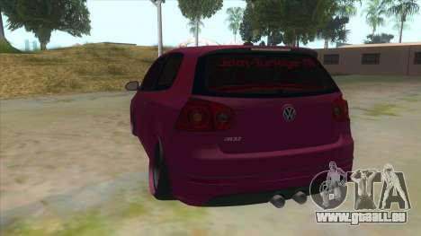 Volkswagen Golf MK pour GTA San Andreas sur la vue arrière gauche