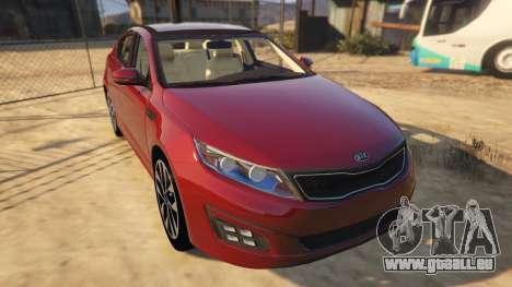 GTA 5 KIA Optima 2014 Rückansicht