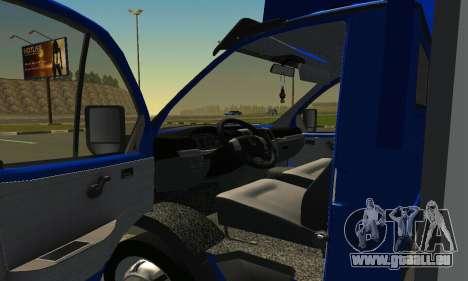 Gazel 3302 Geschäft für GTA San Andreas rechten Ansicht
