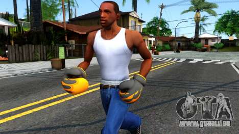 Black With Flames Boxing Gloves Team Fortress 2 für GTA San Andreas
