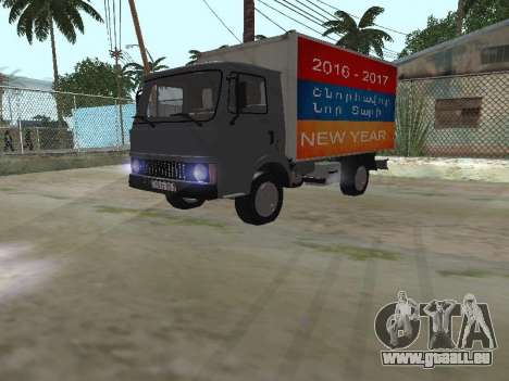 Zastava 640 Armenian pour GTA San Andreas vue de dessus