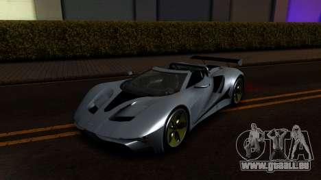 GTA V Vapid FMJ Roadster für GTA San Andreas rechten Ansicht