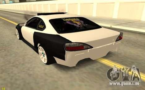 Nissan Silva S15 pour GTA San Andreas sur la vue arrière gauche