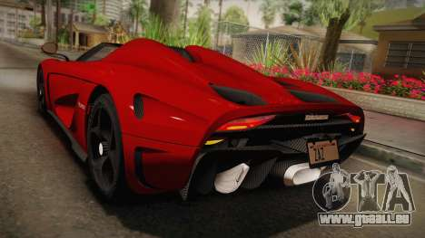 Koenigsegg Regera 2016 pour GTA San Andreas vue de côté