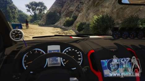 GTA 5 Isuzu D-Max X-Series 2015 hinten rechts