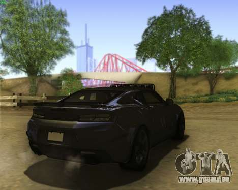 Chevrolet Camaro SS Xtreme pour GTA San Andreas vue de droite