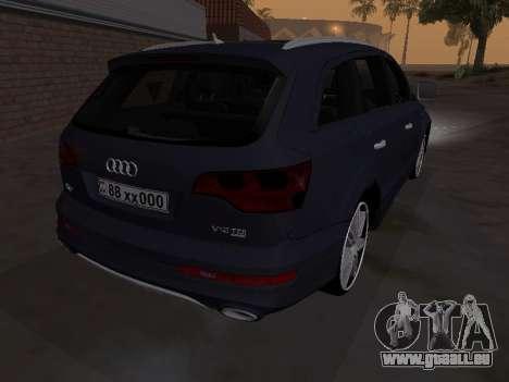 Audi Q7 Armenian pour GTA San Andreas vue arrière