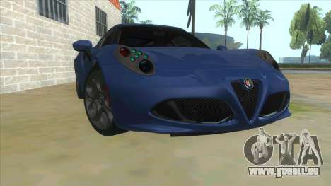 Alfa Romeo 4C für GTA San Andreas Rückansicht