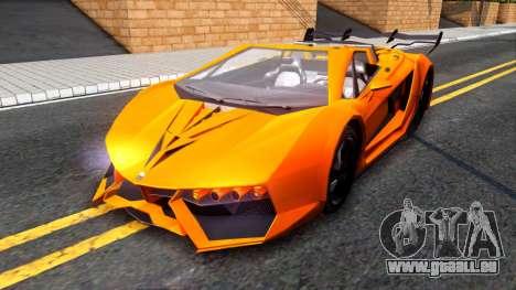 GTA V Pegassi Lampo Roadster pour GTA San Andreas