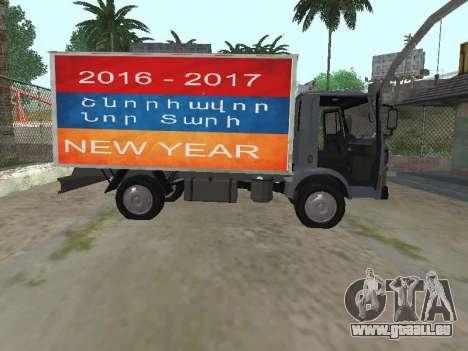 Zastava 640 Armenian pour GTA San Andreas vue intérieure