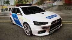 Mitsubishi Lancer Evo X Polizei