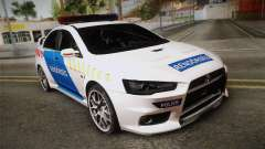 Mitsubishi Lancer Evo X Polizei für GTA San Andreas