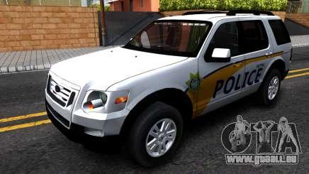 Ford Explorer Slicktop Metro Police 2010 pour GTA San Andreas