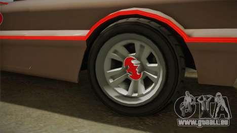 GTA 5 Vapid Peyote Batmobile 66 IVF für GTA San Andreas Rückansicht