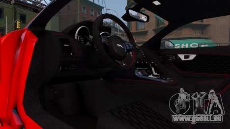 Jaguar F-Type SVR v1.0 2016 für GTA 4 Innenansicht