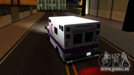 Ambulance Malaysia für GTA San Andreas zurück linke Ansicht