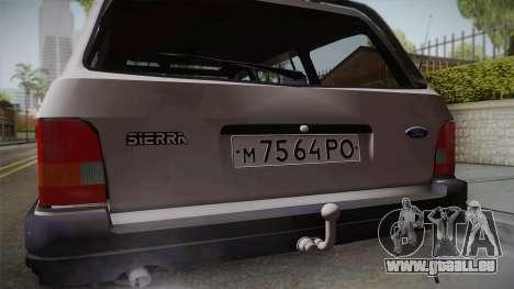 Ford Sierra Tournier 2.3D CL 1988 pour GTA San Andreas vue arrière