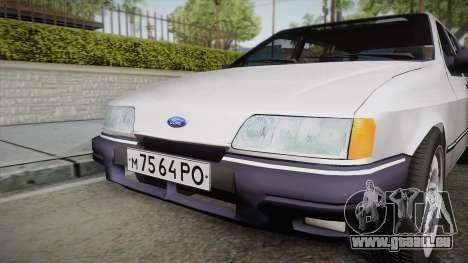 Ford Sierra Tournier 2.3D CL 1988 pour GTA San Andreas vue de droite