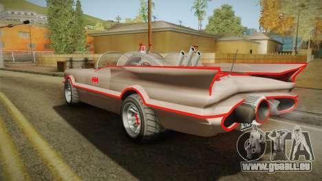 GTA 5 Vapid Peyote Batmobile 66 IVF für GTA San Andreas linke Ansicht
