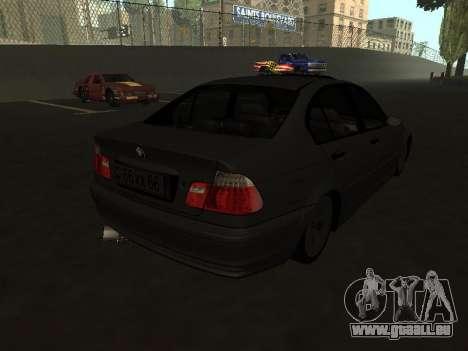 BMW 320i Armenian für GTA San Andreas zurück linke Ansicht