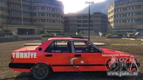 GTA 5 Tofaş Ataturk vue latérale gauche