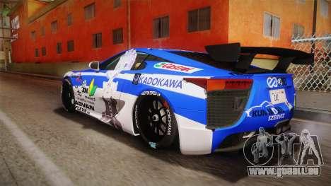 Lexus LFA Rem The Blue of ReZero pour GTA San Andreas laissé vue