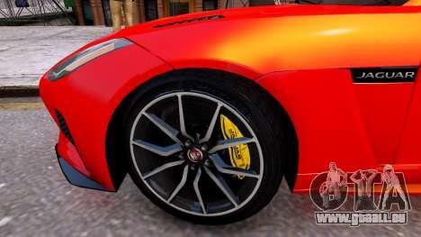 Jaguar F-Type SVR v1.0 2016 für GTA 4 Rückansicht